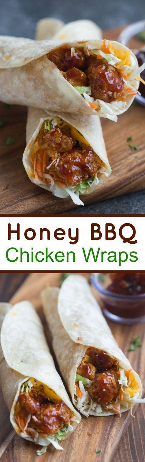 HONEY BBQ CHICKEN WRAPS