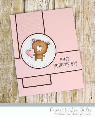 Happy Mother's Day card-designed by Lori Tecler/Inking Aloud-stamps and dies from Reverse Confetti