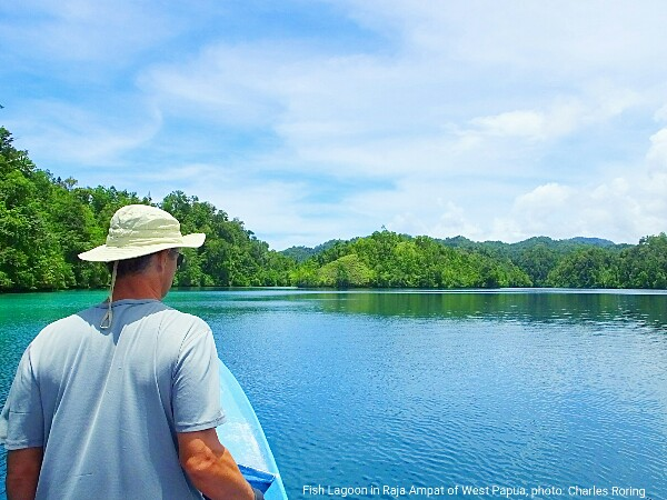 sightseeing boat tour in Waigeo and its surrounding karst