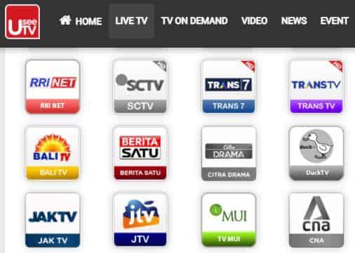 cara nonton tv di hp android secara gratis di usee tv