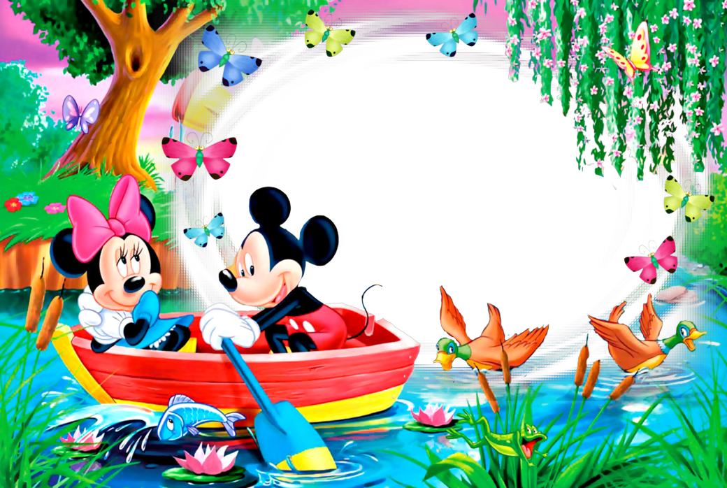 Marcos Png De Mickey Mouse Para Ninos Marcos Gratis Para Fotografias