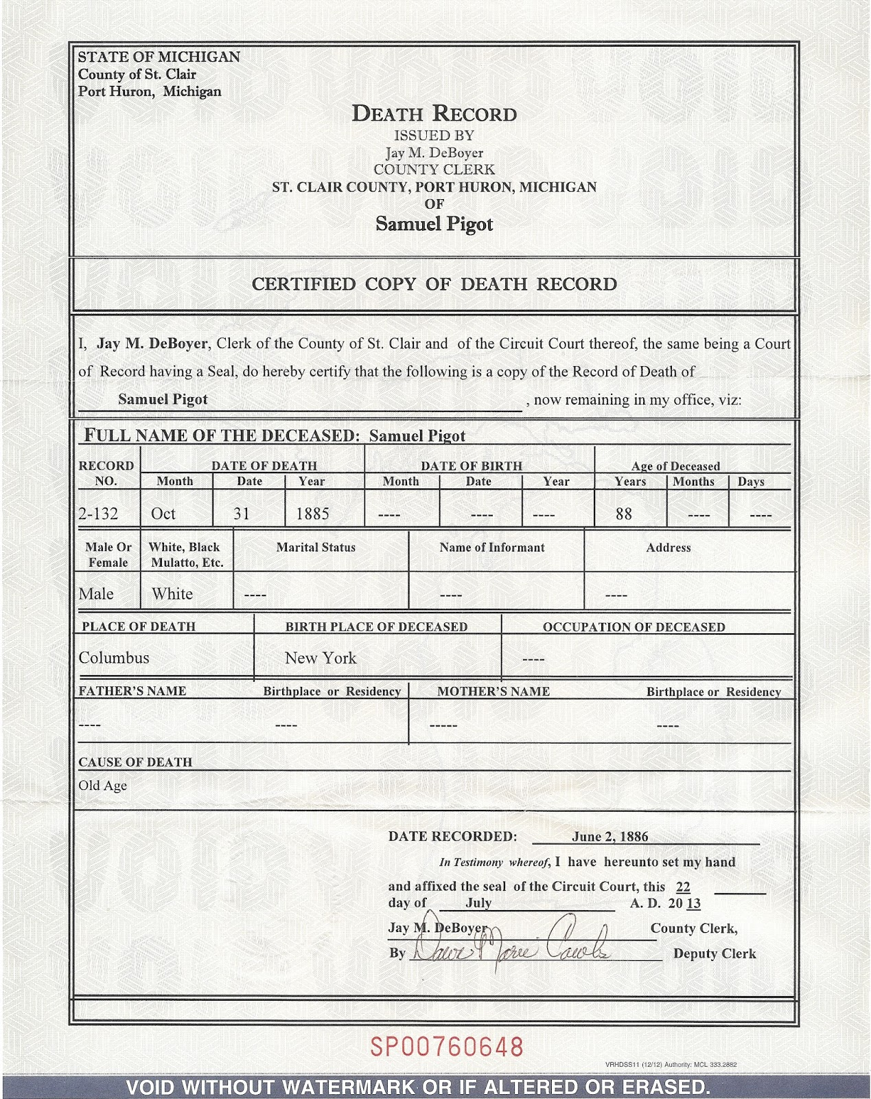 Ancestors live here madness monday thats not a real death i learned absolutely nothing from this certificate other than he died of old age the genealogist in me went grrr there are no parents names 1betcityfo Choice Image