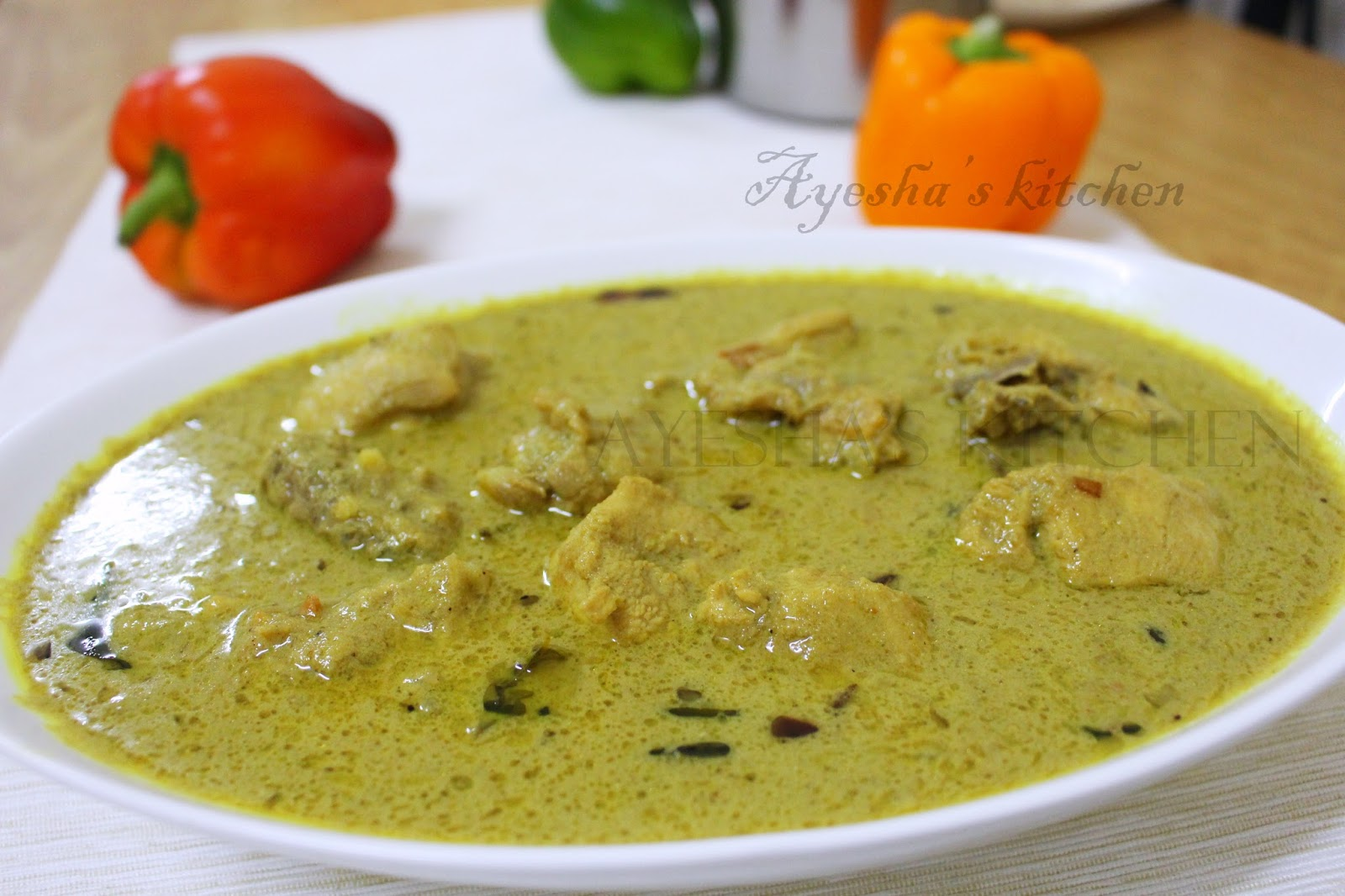 CHICKEN RECIPES - CHICKEN IN ROASTED COCONUT GRAVY/ THENGA ...