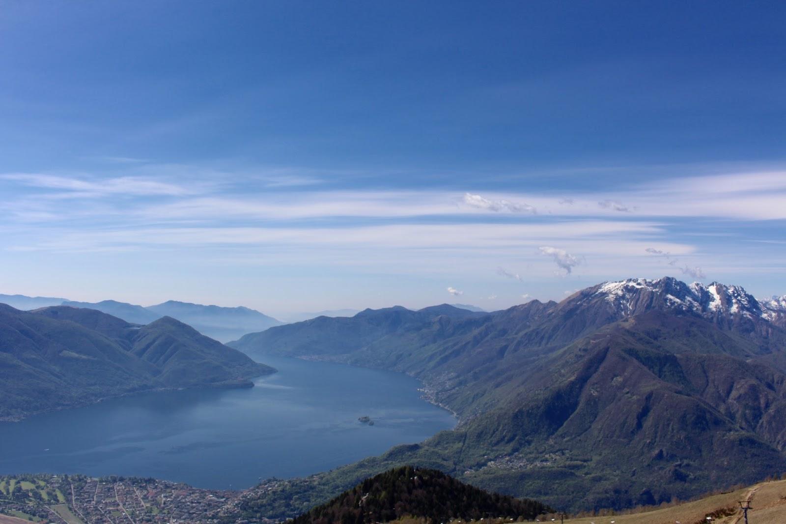 Ausblick von Cimetta auf den Lago Maggiore, Tessin