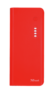 trust power  bank caricabatterie 10000 mah rosso 21952