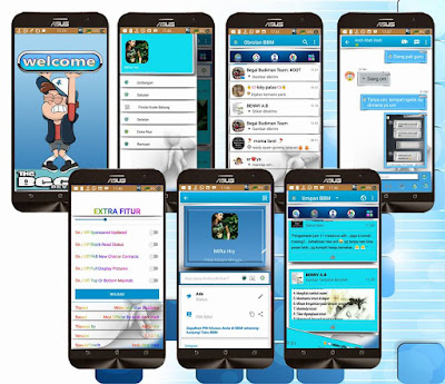 BBM Mod Blue & Shadows Base 3.1.0.13 Apk