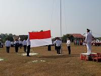 Desa Palembapang Peringati HUT RI Ke- 74 dengan Kibarkan Sang Merah Putih