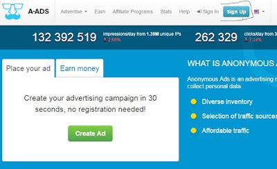 Belajar Bisnis - Cara Dapat Bitcoin Gratisan Menggunakan Blog dari Publisher A-ads 17