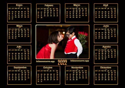 Calendarios del año 2022 para imprimir
