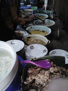 Macam - macam sayur tradisional di Kopi Klotok Kaliurang