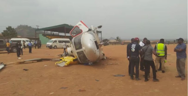 BREAKING : Osinbajo's chopper crashes [PHOTOS]