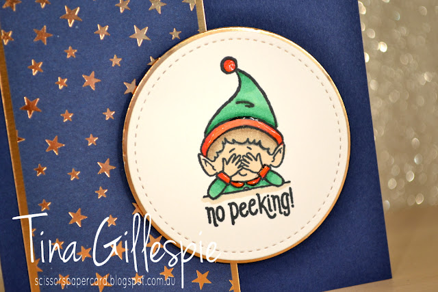 scissorspapercard, Stampin' Up!, Art With Heart, Heart Of Christmas, # Elfie, Brightly Gleaming SDSP, Stampin' Blends, Christmas