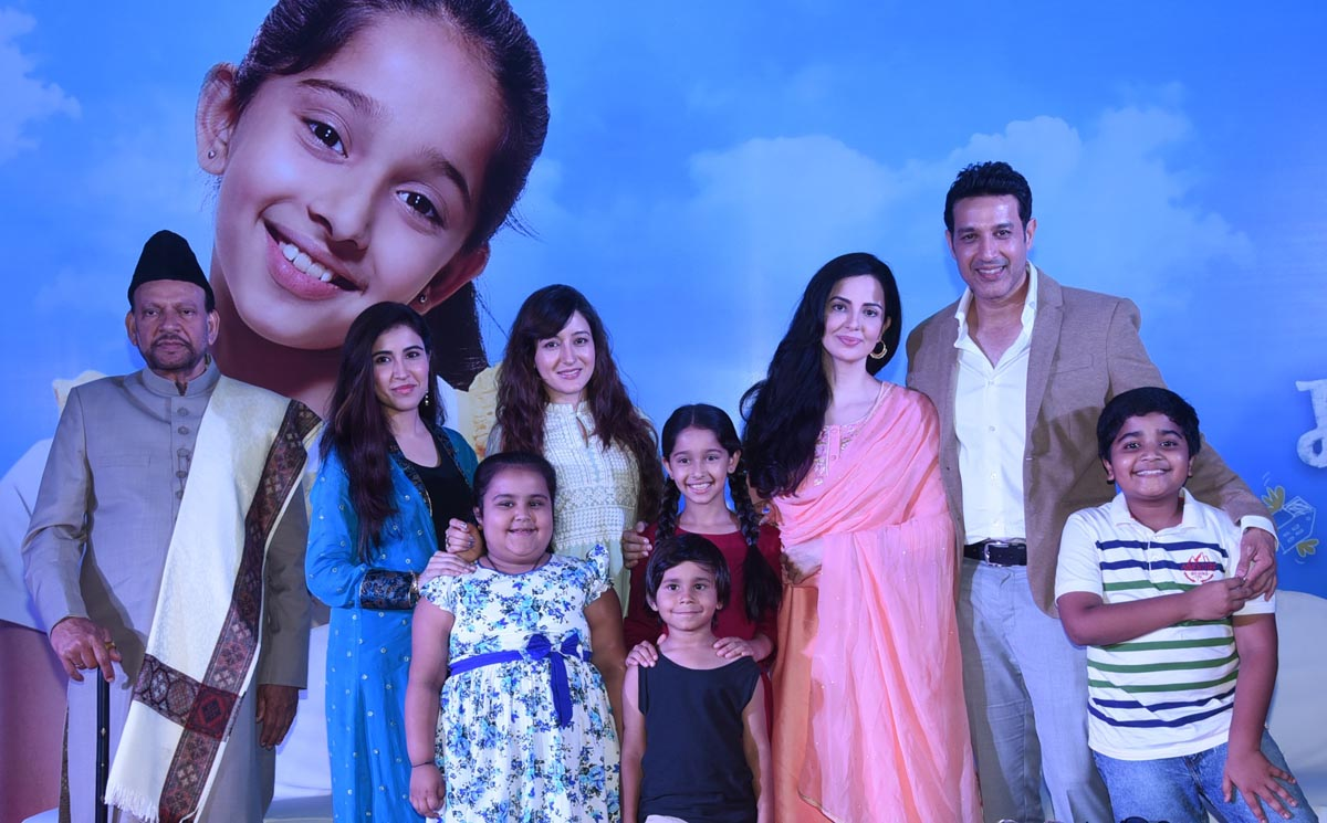 From Left SM Zaheer as Aijaaz, Sheena was Meher, Priyanka as Mahira, Deshna as Mariam, Rukhsar as Madeeha, Khalid as Majaaz along with Mariam's friends Laxmi, Ache and Lallu at the launch
