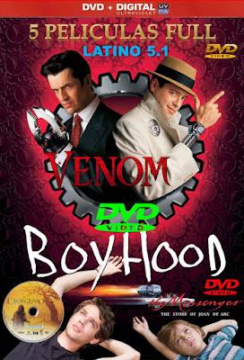 5 Películas FULL DVD R1 NTSC Latino