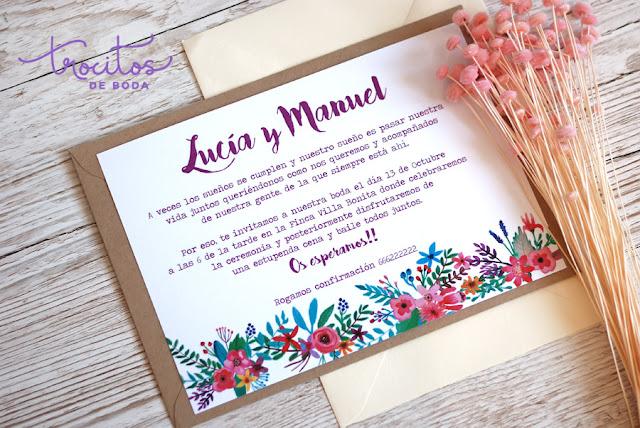invitacion de boda modelo tropic trocitos de boda