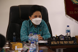 Rita Dondokambey Ikuti Penutupan Rakernas IX PKK 2021 Secara Virtual