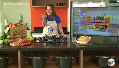 Força regional: Roberta Campos, uma das apresentadoras do Mais Caminhos (EPTV), estrela campanha promocional da Rede de Supermercados Savegnago. Crédito: Divulgação