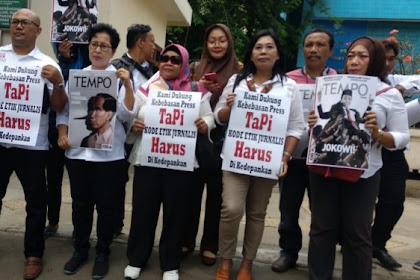 Tak Terima Jokowi Digambar seperti Pinokio, Jokowi Mania Geruduk Dewan Pers