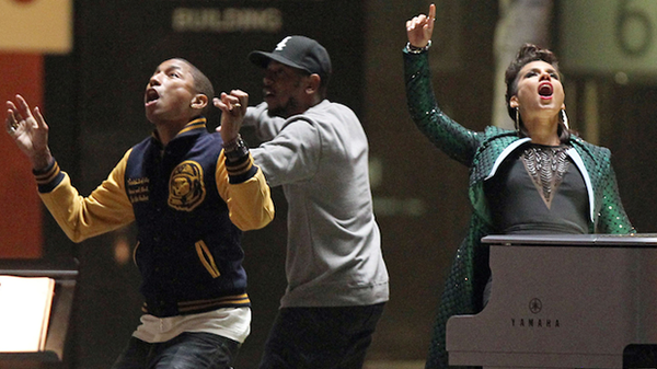 Pharrell brings Alicia Keys and Kendrick Lamar together for Amazing Spiderman 2
