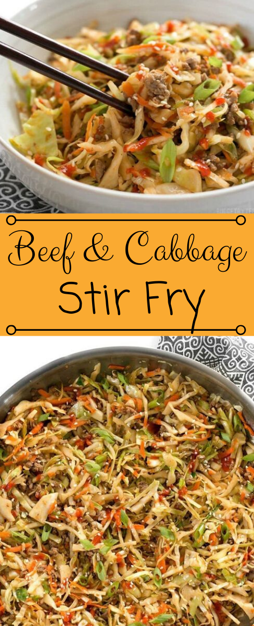 BEEF AND CABBAGE STIR FRY #beef #dinner #food #healthy #easy