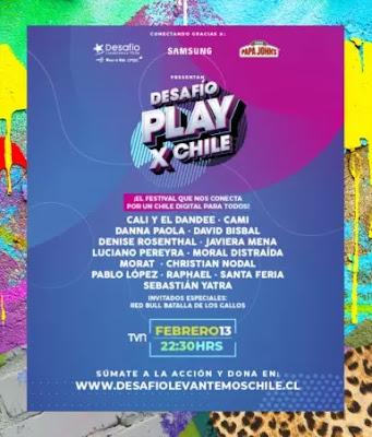 Sebastián Yatra, Cami, Denise Rosenthal, Morat y más encabezan festival Desafío Play x Chile