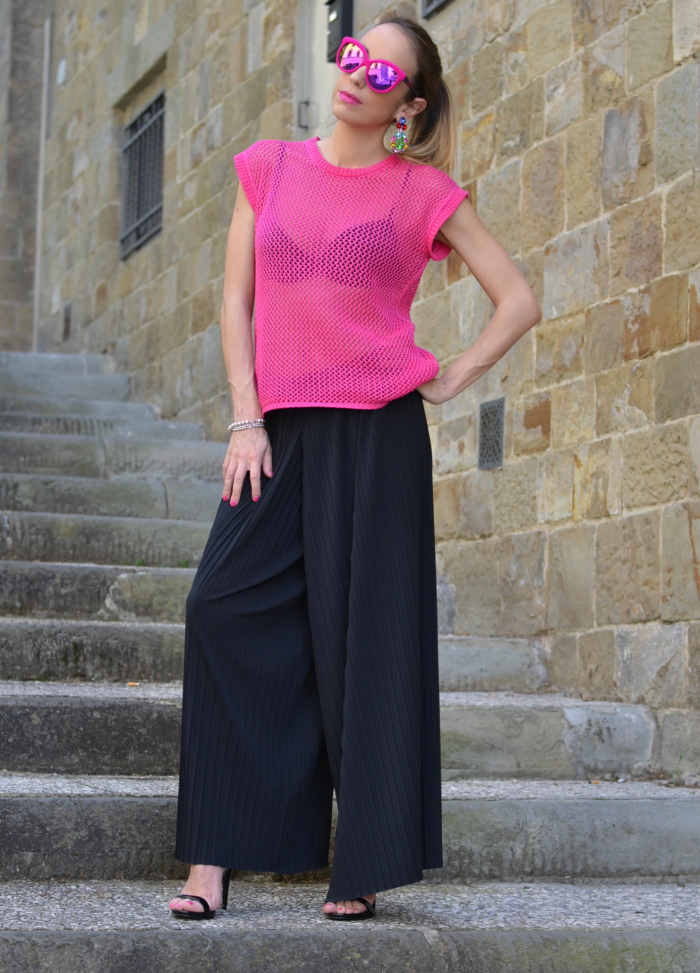 outfIt fuxia nero