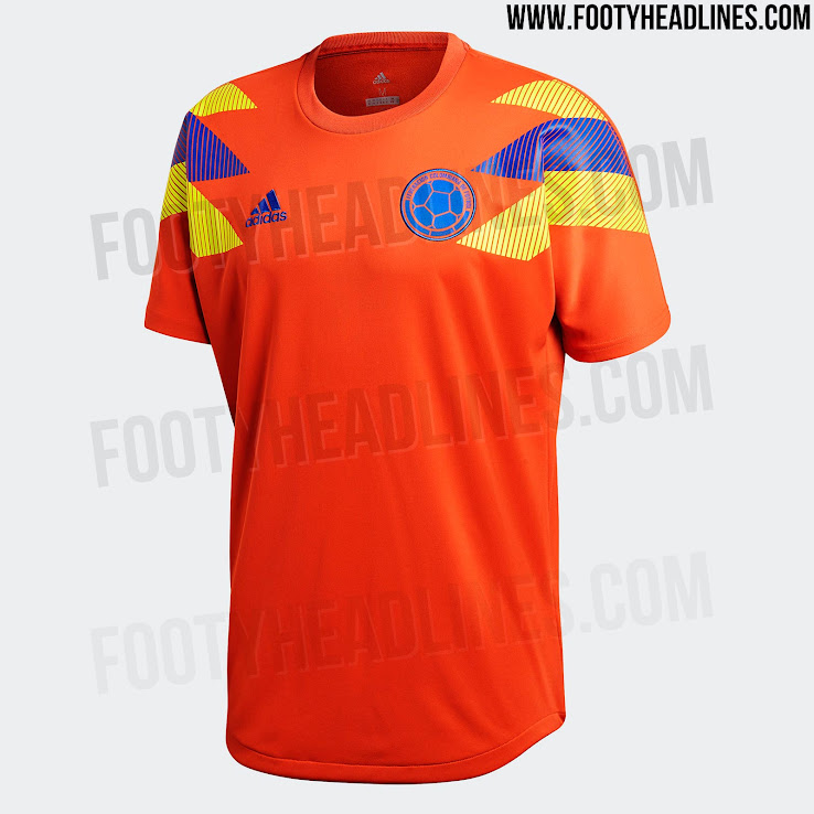 09694b41e1d Orange Adidas Colombia 2018 Special-Edition Shirt. +1. 2 of 2. 1 of 2