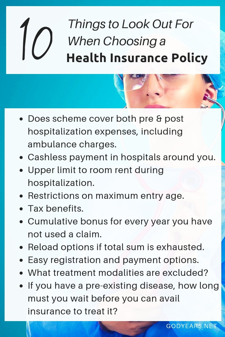 10 things to look out for when choosing a health insurance policy