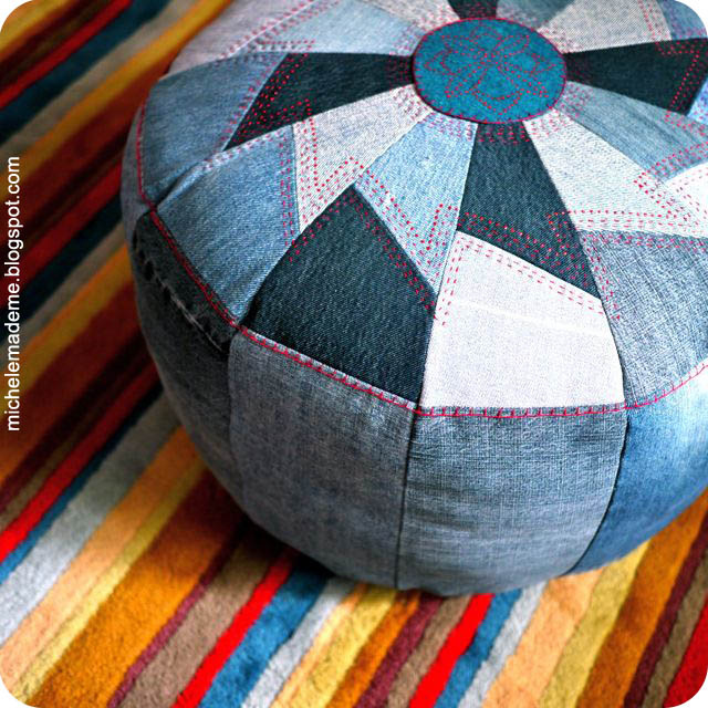 http://www.michelemademe.com/2011/09/drop-dead-denim-one-tough-pouf.html