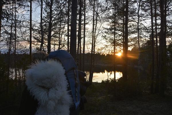 tursekk solnedgang
