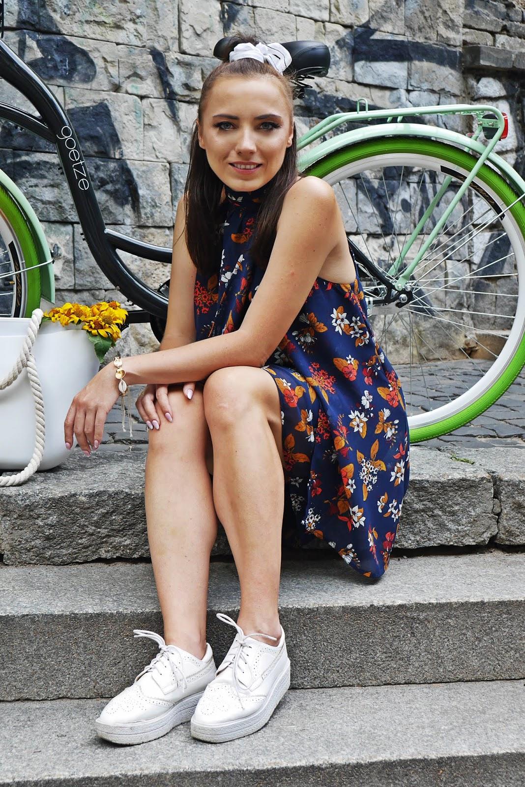 puławy blog modowy blogerka modowa karyn sukienka w kwiaty bonprix