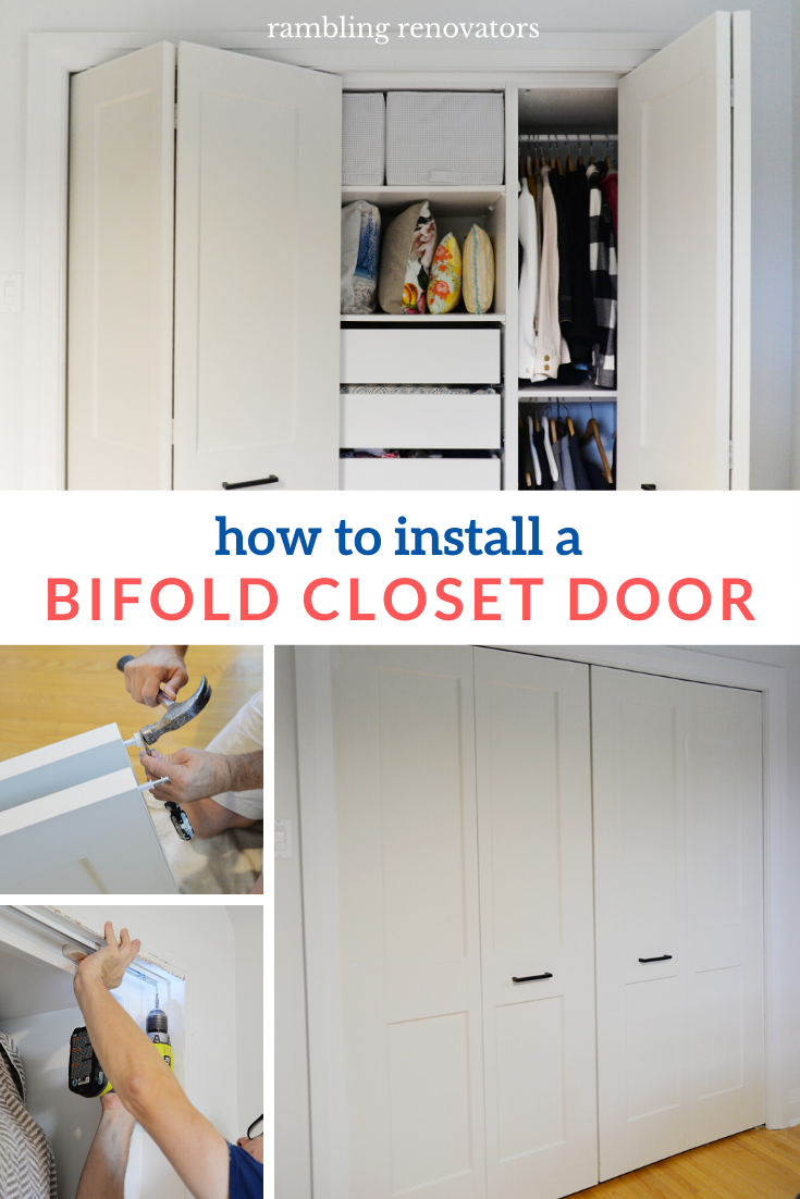 installing bifold door, how to install a bifold closet door, bifold closet door instructions, bifold knob placement