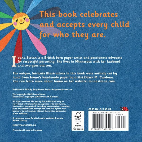 back cover of Always Be You, a board book for young children that celebrates and accepts every child