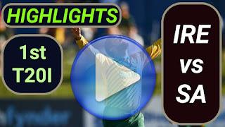 IRE vs SA 1st T20I 2021 Highlights
