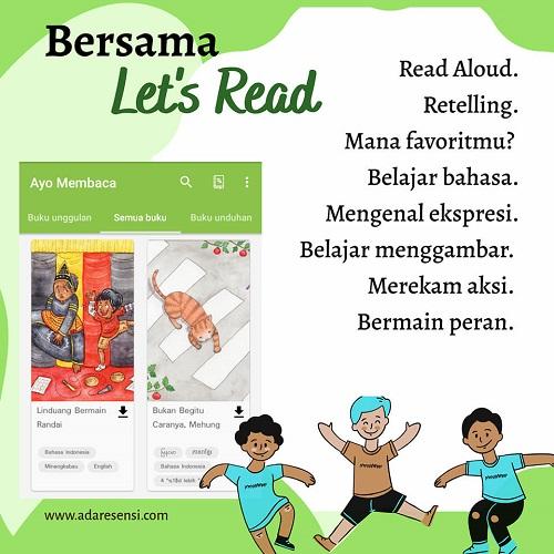 Let's read, budaya membaca online