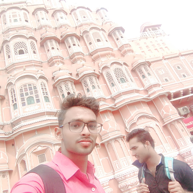 Jaipur Hawamahal selfie Ankit Yadav with friends