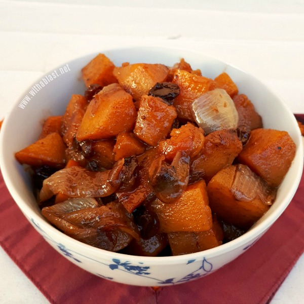 Sticky delicious Side Dish ! Butternut Squash - Morrocan-Style