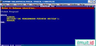 hasil running kode tentang unit kode error