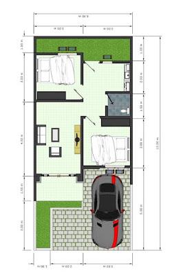 Floor Plan Rumah Desain Mewah - Harga Rumah Subsidi - Hanya 190 Jutaan di Marendal Amplas Patumbak Medan - Perumahan Elite Garden