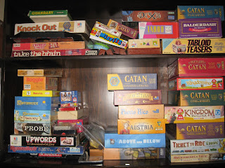 games cupboard, organised by category