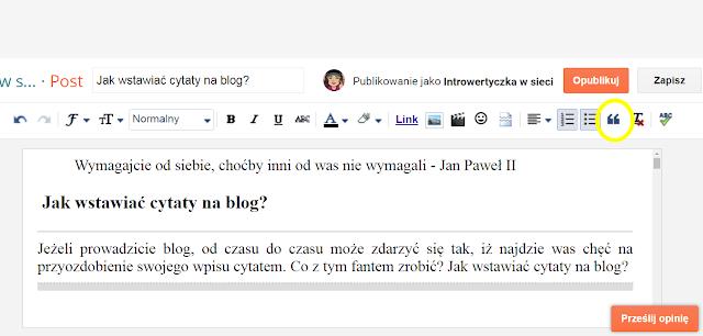Jak wstawiać cytaty na blog?