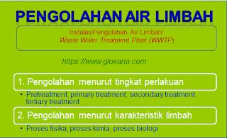 pengertian proses pengolahan air limbah ipal wwtp