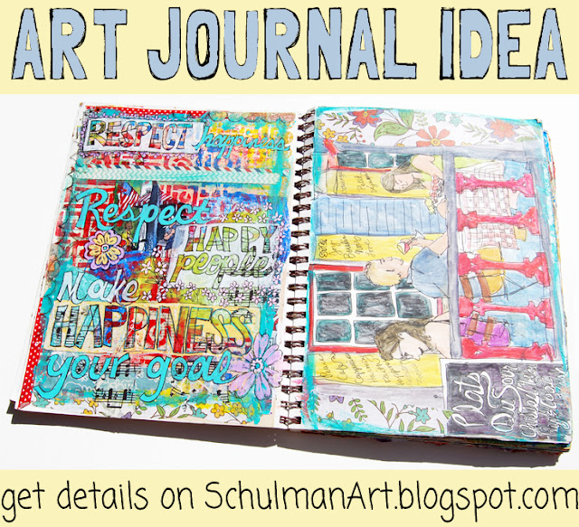 art journal idea | art journal prompt | art journal page | art journal idea | http://schulmanart.blogspot.com/2015/09/an-art-journal-in-search-of-happiness.html
