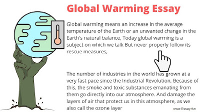 short essay on global warming for students