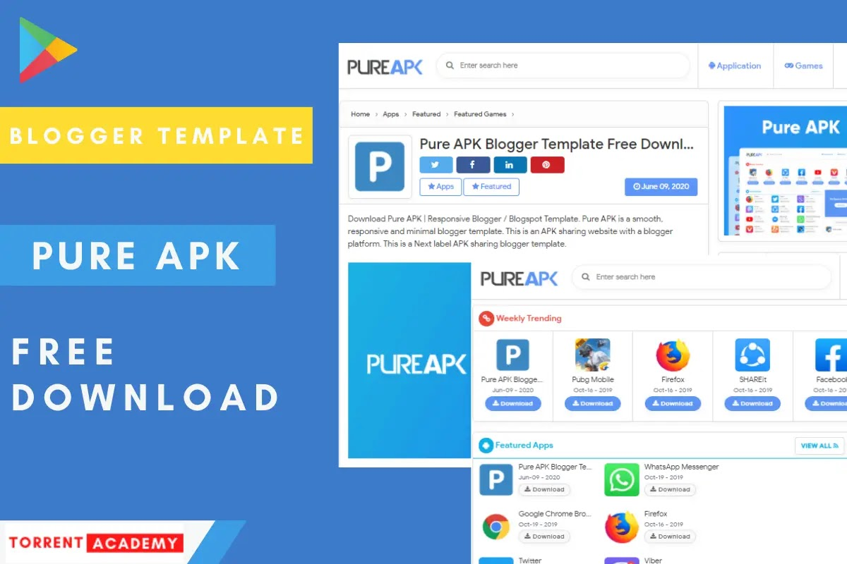 Pure-Apk-Blogger-Template-Download