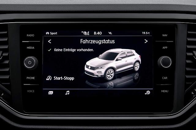 Volkswagen T-ROC - sistema de informação e entretenimento