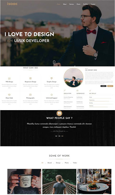 isaac-blogger-template-free-download