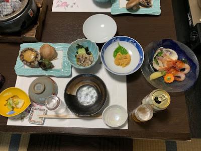 高島旅館の夕食