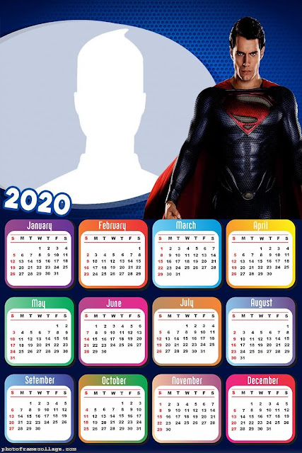 Superman: Free Printable 2020 Calendar
