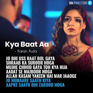Kya Baat Aa Punjabi Song Written Image By Karan Aujla